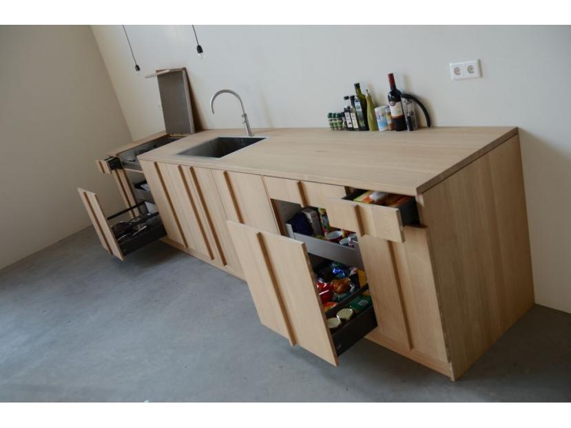 Eiken keuken craft bouwproducties maatwerk in interieurbouw en verbouwen - Keuken uitgerust m ...